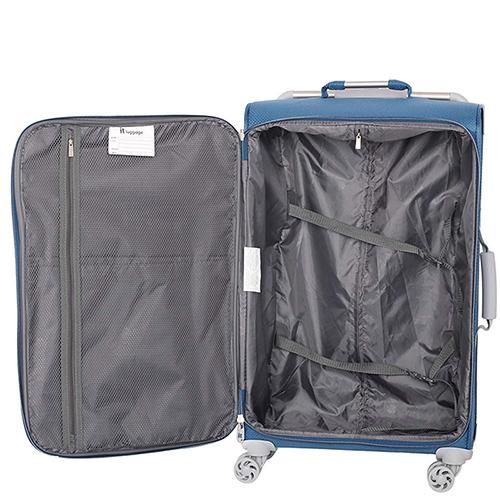 Синий чемодан IT Luggage New York Blue Ashes 80х47х26см, фото