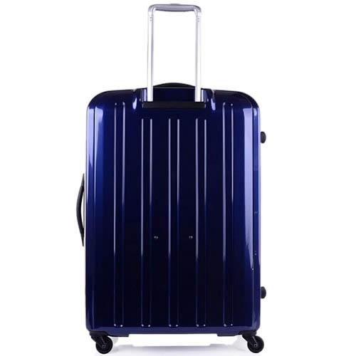 Синий вместительный чемодан 57x81x33-36см Lojel Lucid с функцией регулировки размера, фото