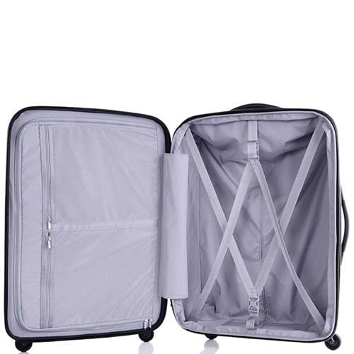 Большой синий чемодан 49х71х29(32)см Lojel Lucid с возможностью регулировать размер, фото