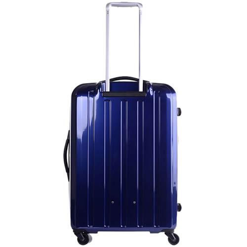 Большой синий чемодан 49х71х29(32)см Lojel Lucid на колесиках с функцией регулировки размера, фото