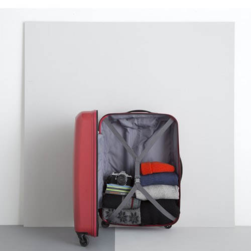 Красный дорожный чемодан 53х76х29см Lojel Essence с колесиками большого размера, фото