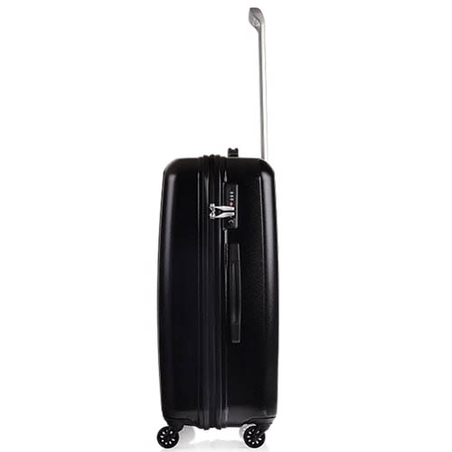 Средний черный чемодан 47,5x68,5x28см Lojel Essence на молнии и колесиках с замком, фото