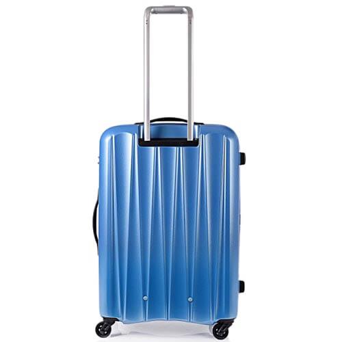 Синий чемодан 47,5x68,5x28см Lojel Essence среднего размера на колесиках и замком, фото