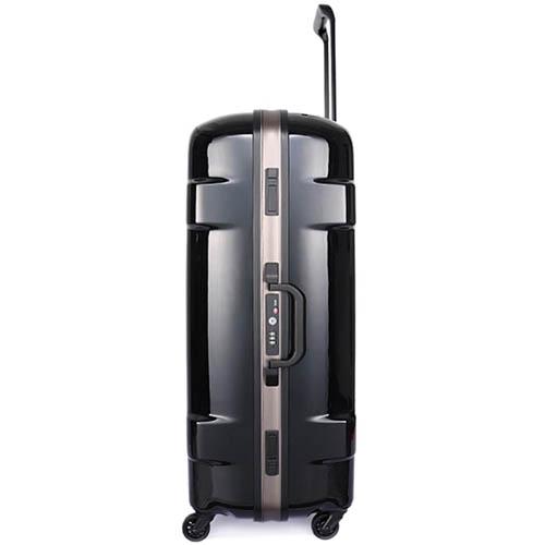 Дорожный черный чемодан 47,5x68,5x28,5см Lojel Carapace среднего размера на защелках, фото