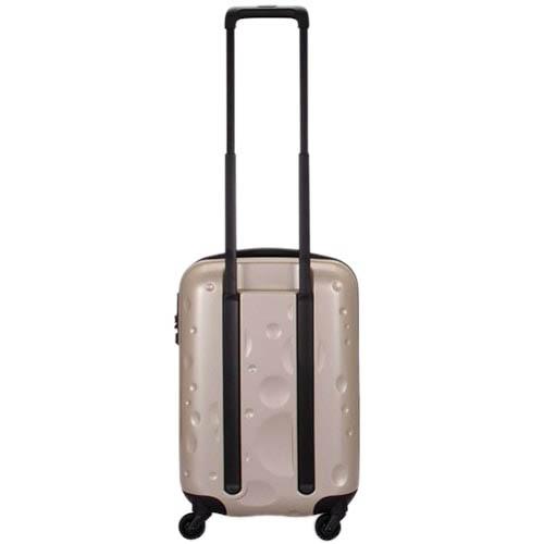Маленький дорожный чемодан 36,4х55,6х23,0см Lojel Luna золотистого цвета с рельефным тиснением, фото