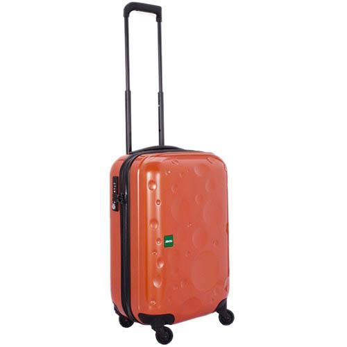 Небольшой дорожный чемодан 36,4х55,6х23,0см Lojel Luna оранжевого цвета на 4 колесиках, фото