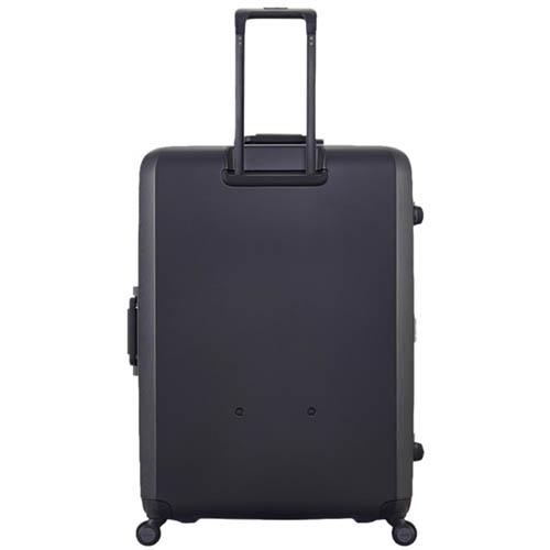 Большой черный чемодан 54х77х31,5см Lojel Rando с текстурой против царапин и замком, фото