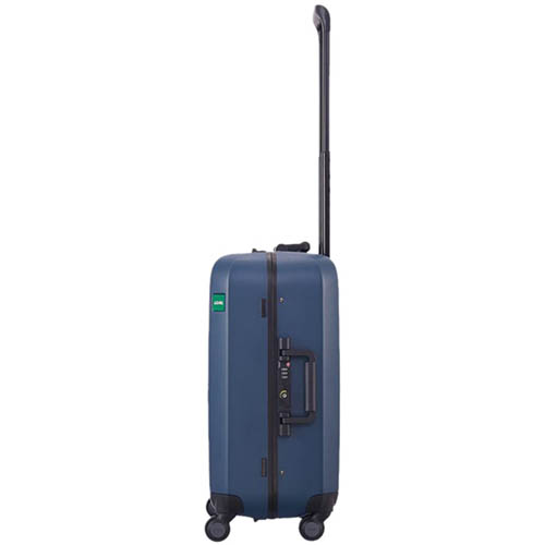Маленький синий чемодан 40х54,2х23см Lojel Rando размера ручной клади с покрытием против царапин, фото