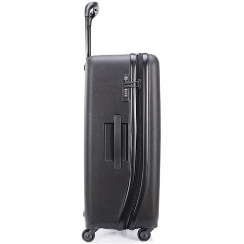 Черный чемодан 55,8x80x34,5см Lojel Vita очень большого размера с тисненными кольцами, фото