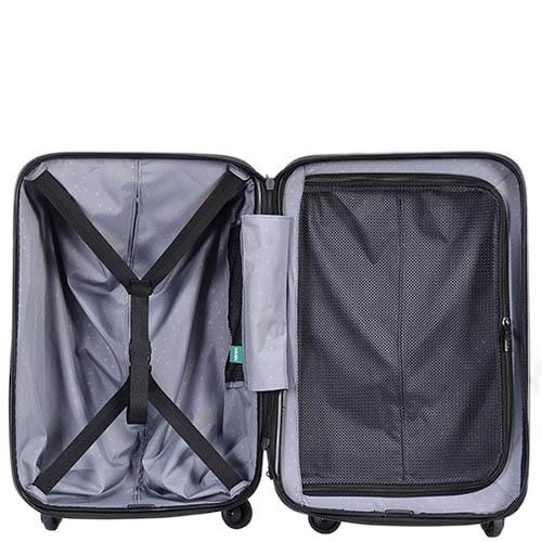 Большой зеленый чемодан 49х70,4х29,3см Lojel Vita с тиснением на прорезиненных колесиках, фото