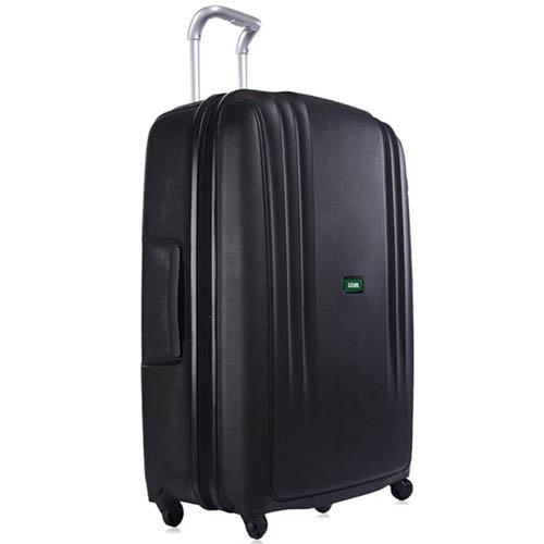 Очень большой черный чемодан 56x82,5x32см Lojel Streamline на 4 колесах, фото