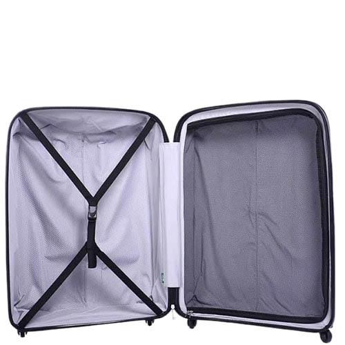 Маленький желтый чемодан 35х55х23,5см Lojel Streamline на колесиках и с телескопической ручкой, фото