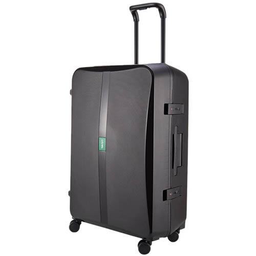 Большой чемодан 51,3х75,4х30,6см Lojel Octa 2 черного цвета с матовым покрытием на колесиках, фото