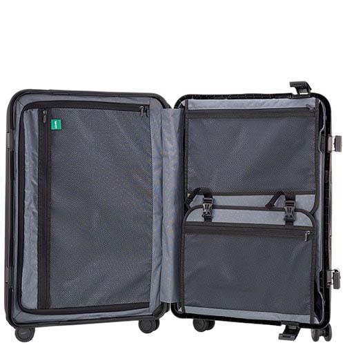 Большой дорожный чемодан 51,3х75,4х30,6см Lojel Octa 2 зеленого цвета с выдвижной ручкой и защелками, фото