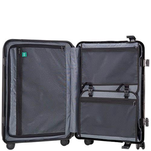 Средний чемодан 43,6x64,8x26,8см Lojel Octa 2 синего цвета с матовым покрытием на защелках, фото