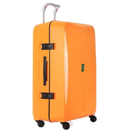 Большой чемодан 51,3х75,4х30,6см Lojel Octa оранжевого цвета с выдвижной ручкой и замками, фото