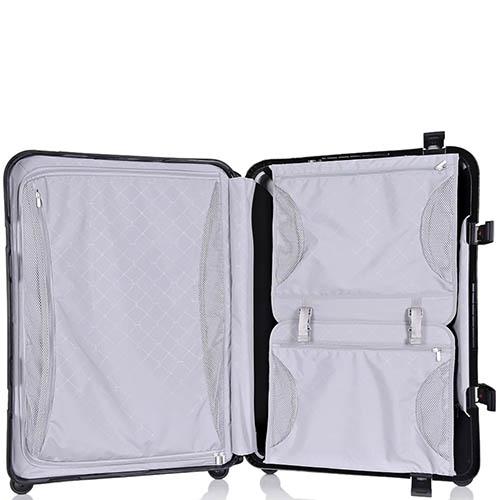 Серый чемодан 43,6x64,8x26,8см Lojel Octa среднего размера на защелках с выдвижной ручкой, фото