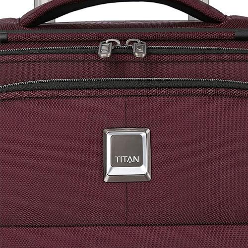 Средний чемодан 42x68x28-32см Titan Nonstop бордовый, фото