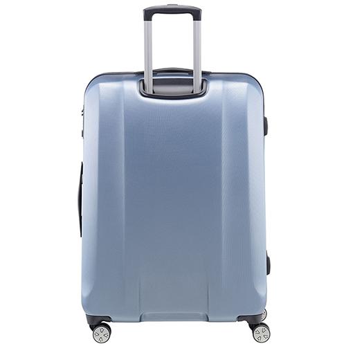 Большой чемодан 74x53х31см Titan Xenon синего цвета с телескопической ручкой, фото