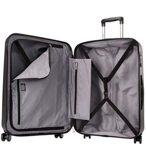 Черный чемодан среднего размера 67x46x28см Titan Xenon из прочного поликарбоната, фото