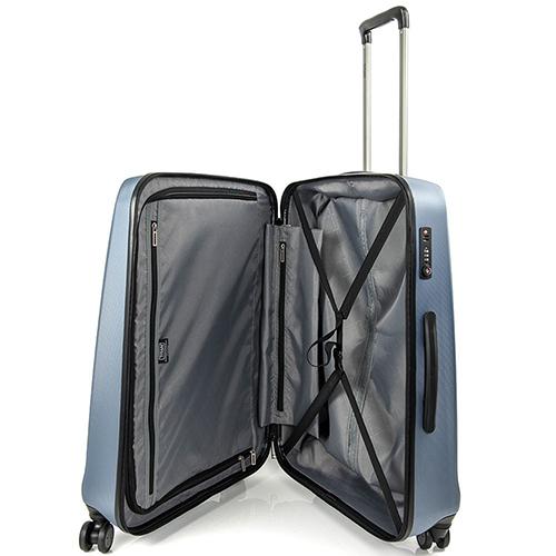 Синий чемодан 67x46x28см Titan Xenon с прорезиненной молнией, фото