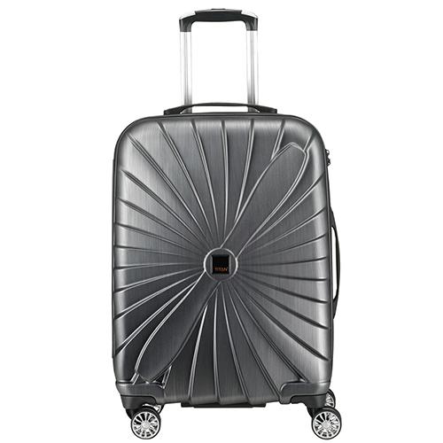Большой водонепроницаемый чемодан 74x53х29см Titan Triport серого цвета, фото