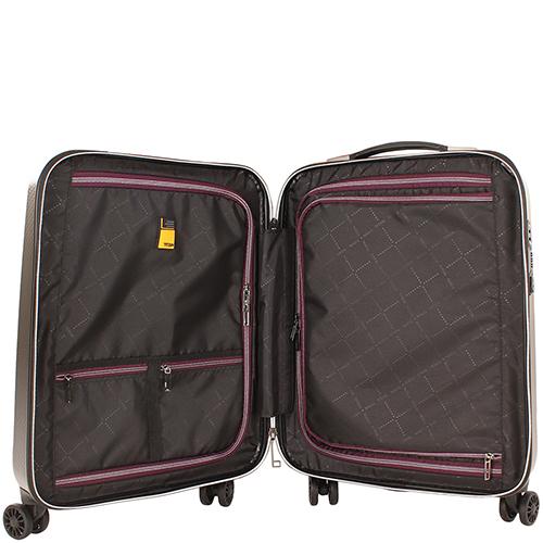 Дорожный коричневый чемодан 55x38х20см Titan Xenon Deluxe маленького размера, фото