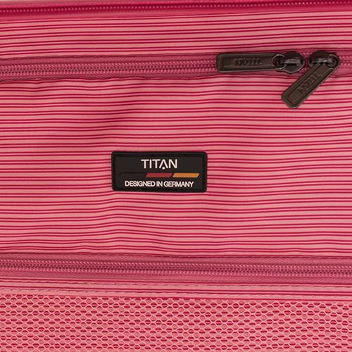 Розовый чемодан на колесах 68x44x26-31см Titan Limit среднего размера, фото