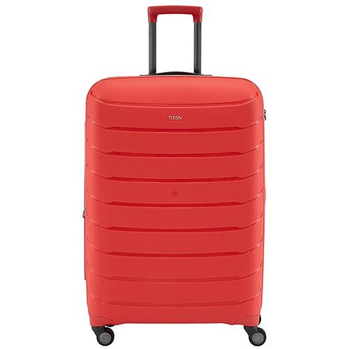 Красный чемодан 55x39х20см Titan Limit с выдвижной телескопической ручкой, фото