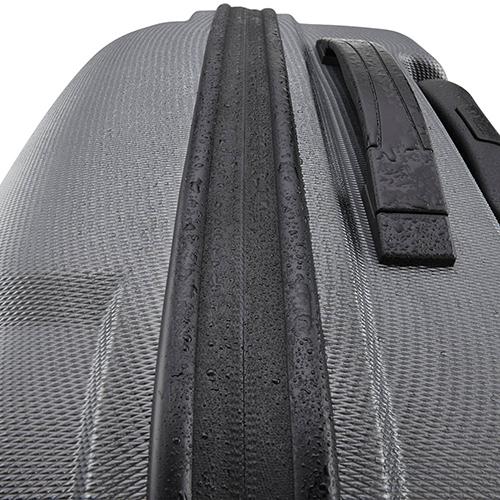 Чемодан черного цвета 76x52х28см Titan X2 декорирован под акулью кожу, фото