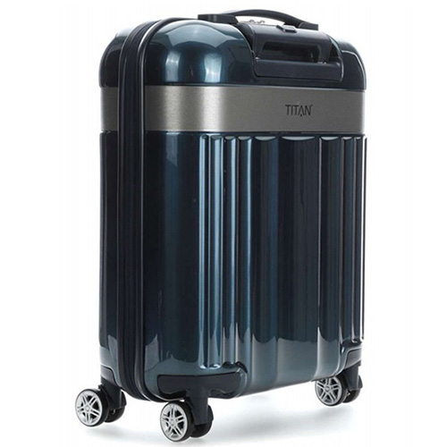 Чемодан средний 45x67x27см Titan Spotlight Flash синего цвета, фото