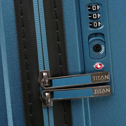Большой чемодан 51x77x30см Titan Looping синий, фото