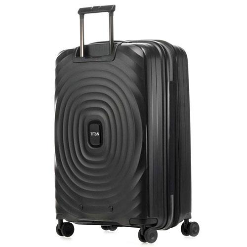 Средний чемодан 45x67x27-31см Titan Looping черный, фото