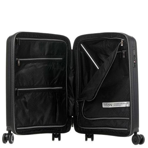 Маленький чемодан 39x55x20см Titan Looping черный, фото