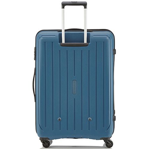 Большой синий чемодан 75x52х31см Travelite Uptown с кодовым замком TSA, фото