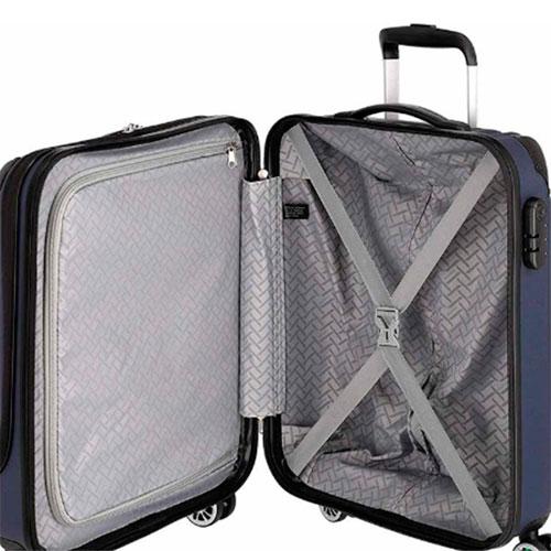 Синий чемодан на колесах Travelite City 40x55x20см, фото