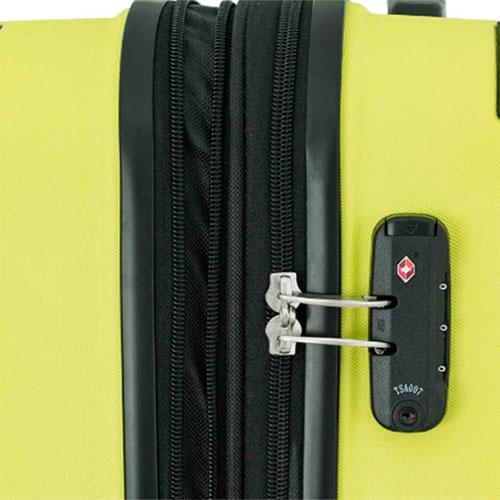 Чемодан на колесах Travelite City желтого цвета 44x68x28см, фото