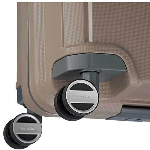 Малый бежевый чемодан 39x55x20см Travelite Makro на колесах, фото