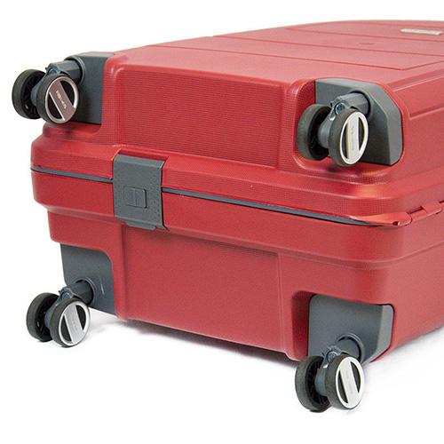 Красный дорожный чемодан 44x66x27см Travelite Makro на 4-х колесах, фото
