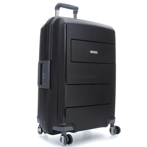 Черный чемодан 52x75x31см Travelite Makro большого размера, фото