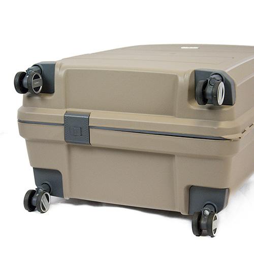 Большой чемодан на колесах 52x75x31см Travelite Makro бежевого цвета, фото