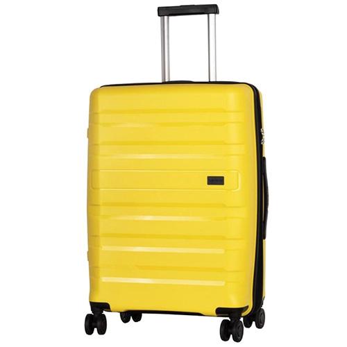 Большой чемодан 52x77x29см Travelite Kosmos желтого цвета, фото