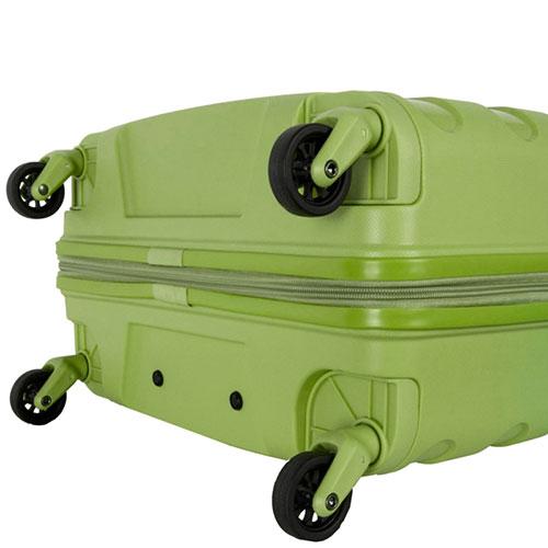 Средний чемодан Travelite Nova зеленого цвета на колесах, фото