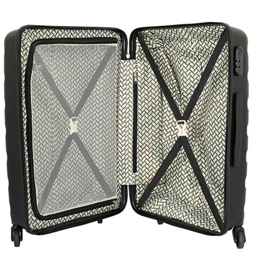 Черный чемодан на колесах Travelite Nova 50x75x30см, фото