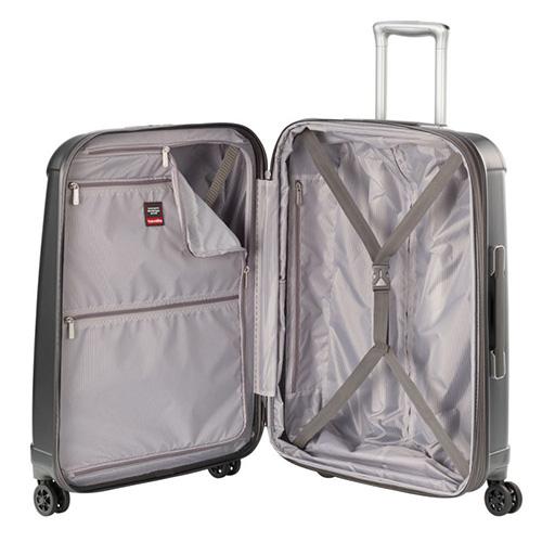 Серый большой чемодан 51x77x30см Travelite Elbe с кодовым замком, фото