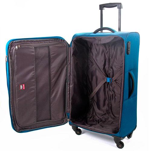 Чемодан синий Travelite Derby 43x77x27/31см, фото