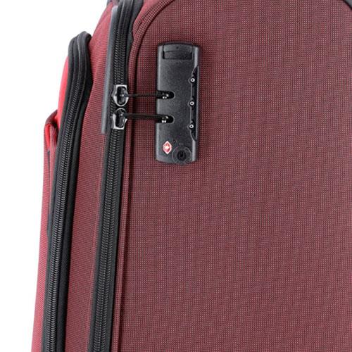 Средний чемодан 42x66x27-31см Travelite Derby красного цвета, фото