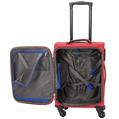 Красный маленький чемодан 54x37х20см Travelite Solaris из текстиля, фото