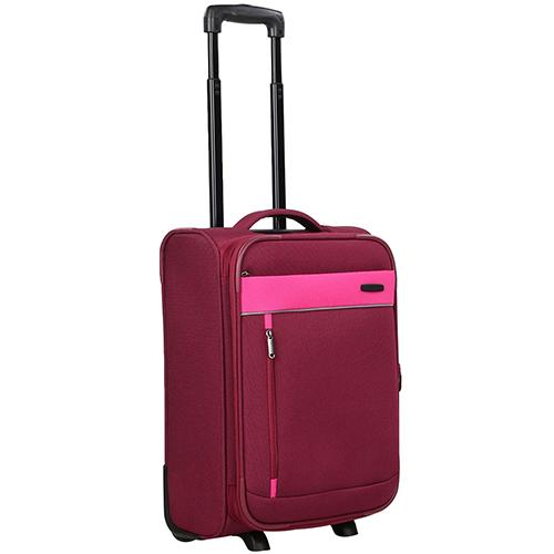 Маленький чемодан 52x36х20-24см Travelite Delta красного цвета на 2х колесах, фото