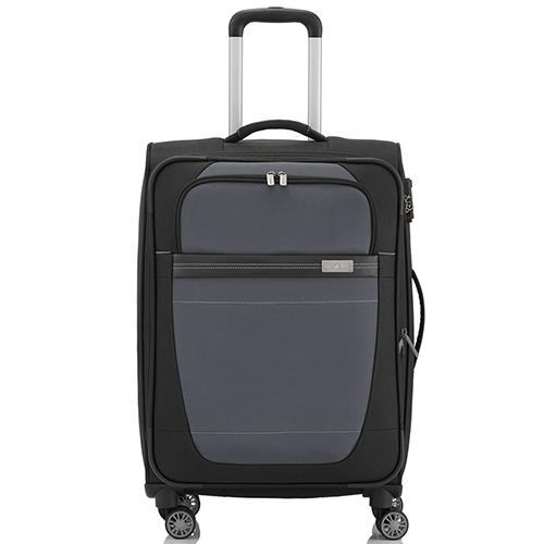 Среднего размера чемодан 66x42x26-30см Travelite Meteor с выдвижной ручкой, фото
